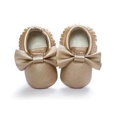 Bébé Nouveau-né Baby Girl Tassel Noeud en Cuir Souple Chaussures Enfant Mocassins Neuf