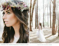 Flower crown & whimsical dress | Photo: @Yolandé Marx, Dress: Rosenwerth, Flowers: Flowers in the foyer