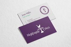 20 best business card ideas images on pinterest business cards nightingale cakes business cards design by miranda thorne madebymiranda reheart Gallery