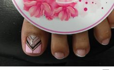French Pedicure, Pedicure Nail Art, Toe Nail Art, Cute Pedicure Designs, Toe Nail Designs, Pretty Toe Nails, Pretty Nail Art, Feet Nail Design, Indian Nails