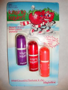 Vintage Maybelline Kissing Koolers Fruit Flavored Lip Gloss Package of 3 in Health & Beauty, Makeup, Lips | eBay