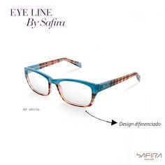 cd858b4c538ec Armações com inspiração retrô e design diferenciado fazem parte da coleção  Eye Line.  Safira