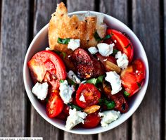Chorizo, Tomato and Goat Cheese Salad  http://www.creativeboysclub.com/
