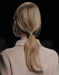 """I don't know why they wasted the adjective """"French"""" on a braid since the most French (aka effortless cool) hair style on the face of the earth is low ponytail. Bad Hair Day, Hair Inspo, Hair Inspiration, Inspo Cheveux, Perfect Ponytail, Sleek Ponytail, Chic Hairstyles, Korean Hairstyles, Blonde Hairstyles"""