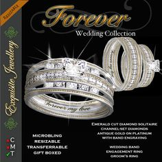 Second Life Marketplace - DEMO - Exquisite Forever Silver Diamond Ring