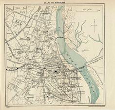 vintage map of delhi india. just bc we love maps and we love delhi Delhi City, Fantastic Mr Fox, Delhi India, Antique Maps, City Maps, India Travel, Vintage Prints, Custom Framing, Great Gifts