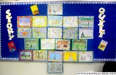 Story quilt to accompany literature circles.