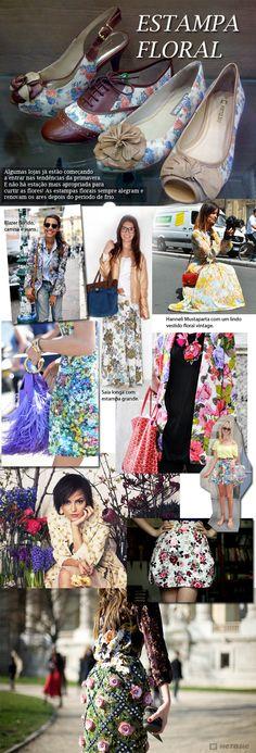 Estampa Floral - Layout criado para blog da marca de calçados Hetane, coleção verão 2012.