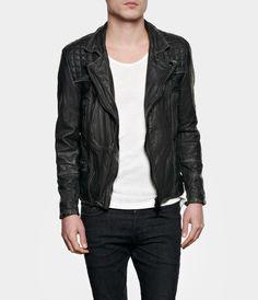 AllSaints Cargo Leather Biker Jacket | Mens Leather Jackets - $510