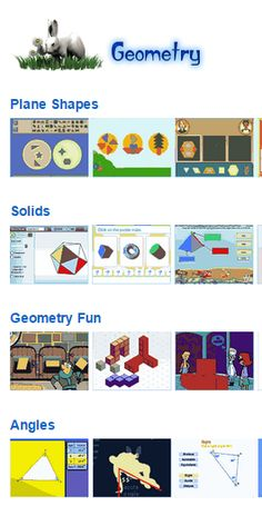 Math Geometry resources and activities for kids and their teachers from Johnnie's Math Page  Shapes Solids Symmetry Grids Coordinates Angles Geometry fun
