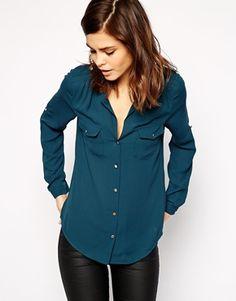 Oasis Button Detail Shirt