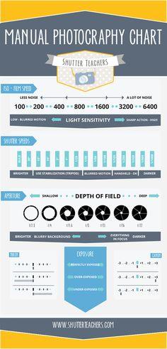 A guide to manual camera settings.  #shootinmanual