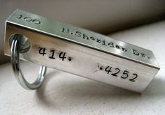 XL Custom Pet ID Bar in aluminum by makeyourdogsmile on Etsy, $28.50
