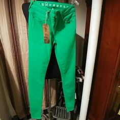 Green skinny jeans Cute green skinny jeans. NWT + never worn. Earnest Sewn Jeans Skinny