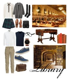 """""""LIbrary Prenup"""" by vitadelbella on Polyvore featuring Burberry, Frame Denim, Samantha Holmes, Gap, Sole Society, Toast, Lands' End, Jeep, Original Penguin and Rolex"""