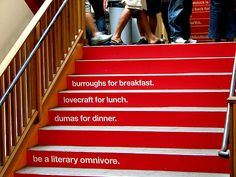 Wordstock literary festival promo at Powell's Books, Portland, OR (Photo by Todd Mecklem)