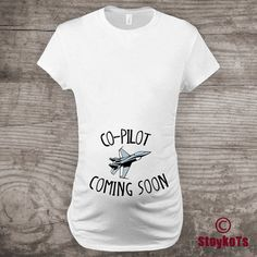 Christmas Maternity t-shirt airforce Baby Announcement new baby co pilot Jet Airplane shirt Personalized Pilot holiday gift ideas custom