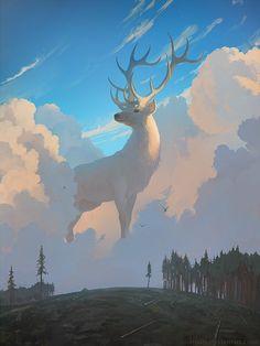 Forest Spirit, Artem RHADS on ArtStation at https://www.artstation.com/artwork/98rKo