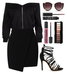 """""""on the loose"""" by russiangrlpower ❤ liked on Polyvore featuring Matiko, NYX, NARS Cosmetics and Rebecca Taylor"""