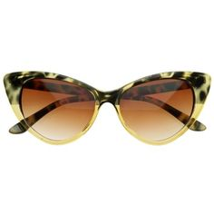Super Cateyes Vintage Inspired Fashion Mod Chic High Pointed Cat-Eye Sunglasses for only $3.62 You save: $26.38 (88%)