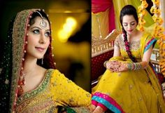 Latest Bridal Mehndi Dresses 20131