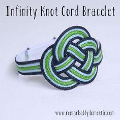 DIY Infinity Knot Cord Bracelet | Shelterness