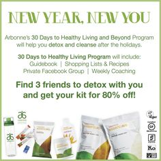 Ready to cleanse and detox? Let me help you with our simple to follow 30 Days to Healthy Living and Beyond program.