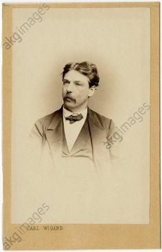 OSWALD ACHENBACH, FOTO RITRATTOAchenbach Oswald pittore tedesco.  Dusseldorf 1827/02/01 -. 1905/01/02 ibid, . ritratto fotografico, circa 1870 (Carl Wigand, Berlino).