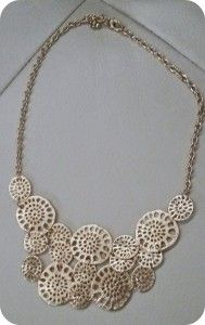 Zad's Adrianna circle bib necklace- love this... Wonder if I could pull it off?? -kgourley