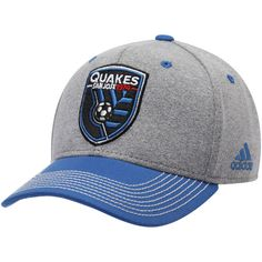 outlet store a45dc 7e4d2 San Jose Earthquakes adidas Two Tone Structured Adjustable Hat – Gray Blue