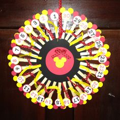 Disneyworld countdown calender - another fun idea!   #disney #kids #vacation