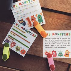"The game ""Who am I?"" little monsters – Site of jauraisduetrefleuriste! French Teaching Resources, Teaching French, Teaching Spanish, Teaching Tools, Learn Spanish, Read In French, Learn French, Core French, My Little Monster"