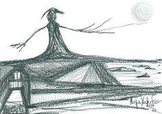 "Saatchi Art Artist Maria Marachowska; Drawing, ""SCARECROW"" #art"
