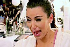 Kim Kardashian crying - This hilarious sweater features a famous image of Kim Kardashian crying. In her show, reality star Kim Kardashian complains about how unflatterin. Memes Kardashian, Kourtney Kardashian, Kim Kardashian Cry Face, Ugly Crying Face, Kim K Crying Face, Crying Meme Face, Columbia College Chicago, Memes Estúpidos, Memes Funny Faces