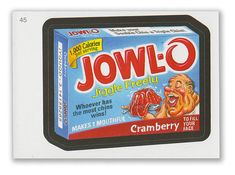 Wacky Packages - 7th Series 2010 Sticker #45 Jowl-O