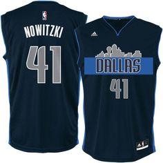Dirk Nowitzki Dallas Mavericks adidas Youth Swingman Basketball climacool Jersey - Navy - $59.99