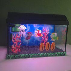 Super Mario aquarium perler pixel art by ky4nn4