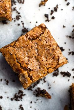 NYT Cooking: A buttery chocolate crust and a rum-scented, banana-imbued butterscotch blondie form two distinct layers that harmonize with every bite. The contrast between crunchy bottom and chewy topping is the whole point of the exercise.
