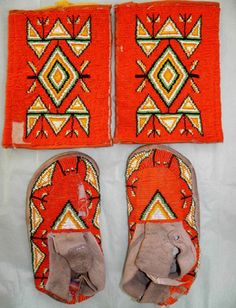 Vintage Antique Native American Sioux Indian Bead Moccasins & Armbands Leggings in Collectibles, Cultures & Ethnicities, Native American: US   eBay
