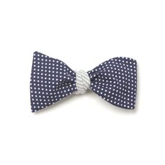 Thomas Bow Tie Navy   Reversible + Four Different Tying options