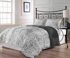 Grey Twin Comforter Set - Home Furniture Design Full Size Comforter Sets, King Size Comforters, Queen Size Bedding, Bedding Sets, Bed Sets, Cheetah Print Bedroom, Leopard Bedding, Diva Bedroom, Master Bedroom
