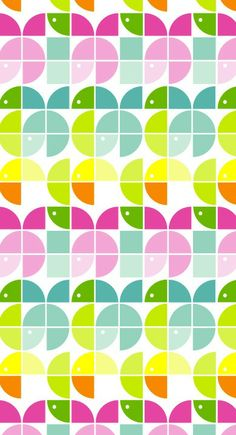 Nice color palette for Spring. Pattern Ideas, Pattern Design, Background Designs, Contemporary Fabric, 2d Design, Textiles, Pretty Patterns, Art Styles, Textures Patterns