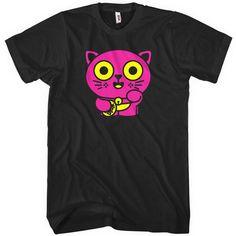 Lucky Neko T-shirt - Men and Kids - Lucky Cat Tee - XS S M L XL 2x 3x 4x - 4 Colors