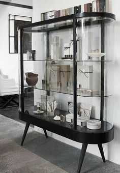 Super Stylish Curved Glass Shelves that You Should Know - Home Page Home Goods Decor, Decor, Interior Design, House Interior, Furniture, Home, Furnishings, Interior Furniture, Home Decor
