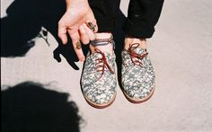 Insecta shoes - upcycled vintage clothing turned into footwear!