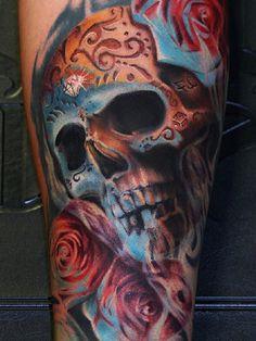 Skull Tattoos 62 - 80 Frightening and Meaningful Skull Tattoos   <3