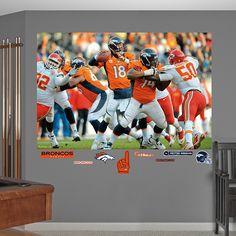 Denver Broncos 11 x 17 Window Clings Sheet