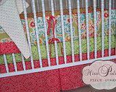 Baby Bedding- Design Your Own Crib Set- Secret Garden in Paprika