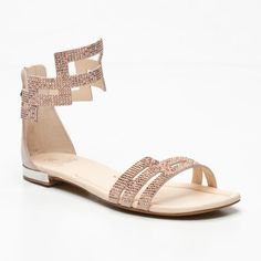 Fabi Leather Sandals with Ankle Strap in Pink featured in vente-privee.com