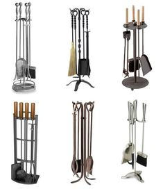 Last month we looked at 5 Sleek & Modern Fireplace Tools, all of which were on the higher end of the price scale. With limited budgets in mind, we took a look around for fireplace tools that wouldn't break the bank. Modern Fireplace Tools, Fireplace Tool Set, Fireplace Screens, Modern Fireplaces, Stove Fireplace, Fireplace Ideas, Indoor Firewood Rack, Firewood Holder, Firewood Storage